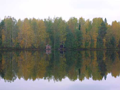 Kangasniemi, Finland - winter cottages zomerhuisjes - skandinavia - skiing, snowboarding, dogsleds, snow mobiles, trekking, fishing, swimming and sauna holidays - vacations in your own cottage in south east Finland - summer, fall, autumn, winter and spring at Penttilä Gardens
